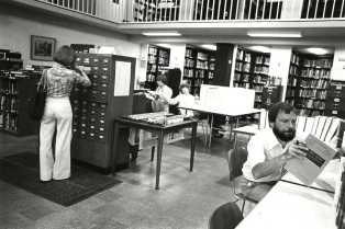 librarian in 70s
